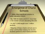 emergence of charter schools