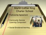 martin luther king charter school