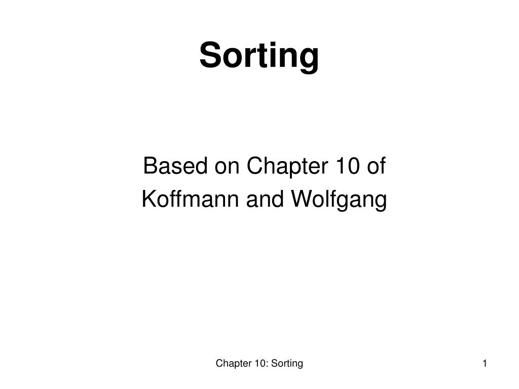 based on chapter 10 of koffmann and wolfgang