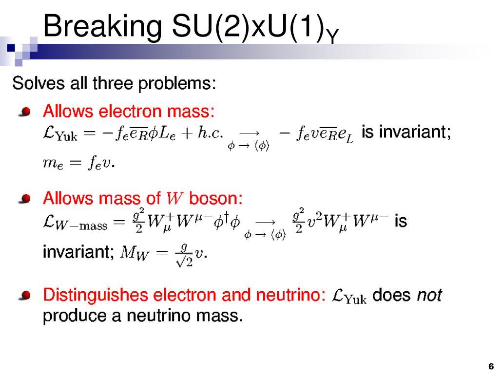 Breaking SU(2)xU(1)