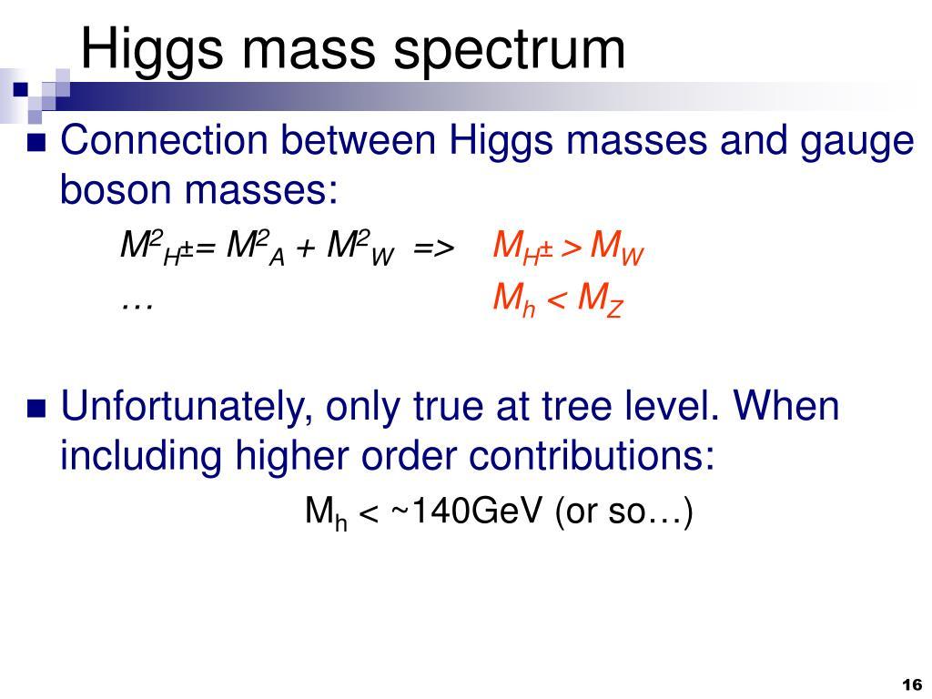 Higgs mass spectrum