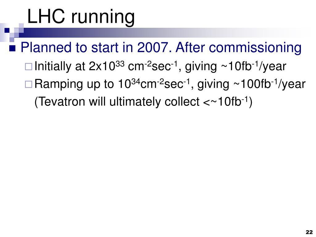LHC running