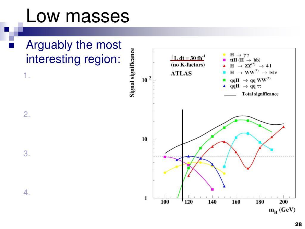 Low masses