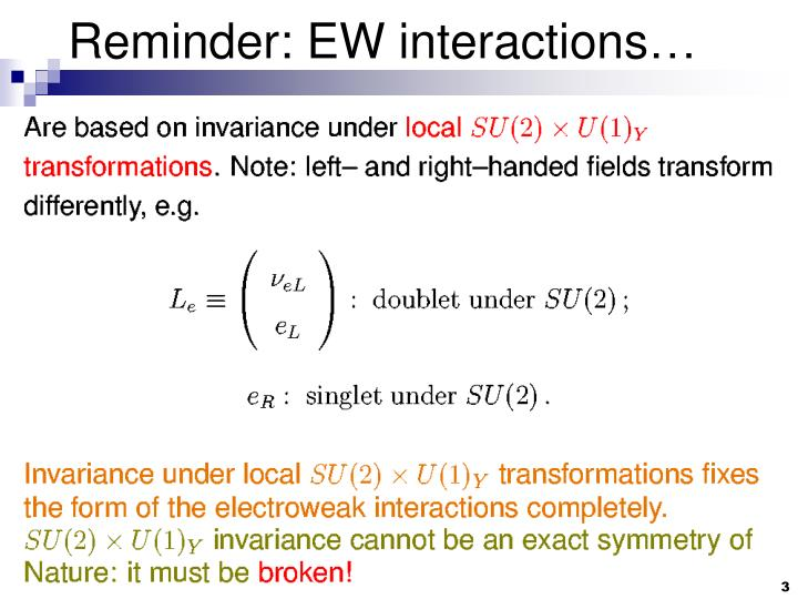 Reminder ew interactions