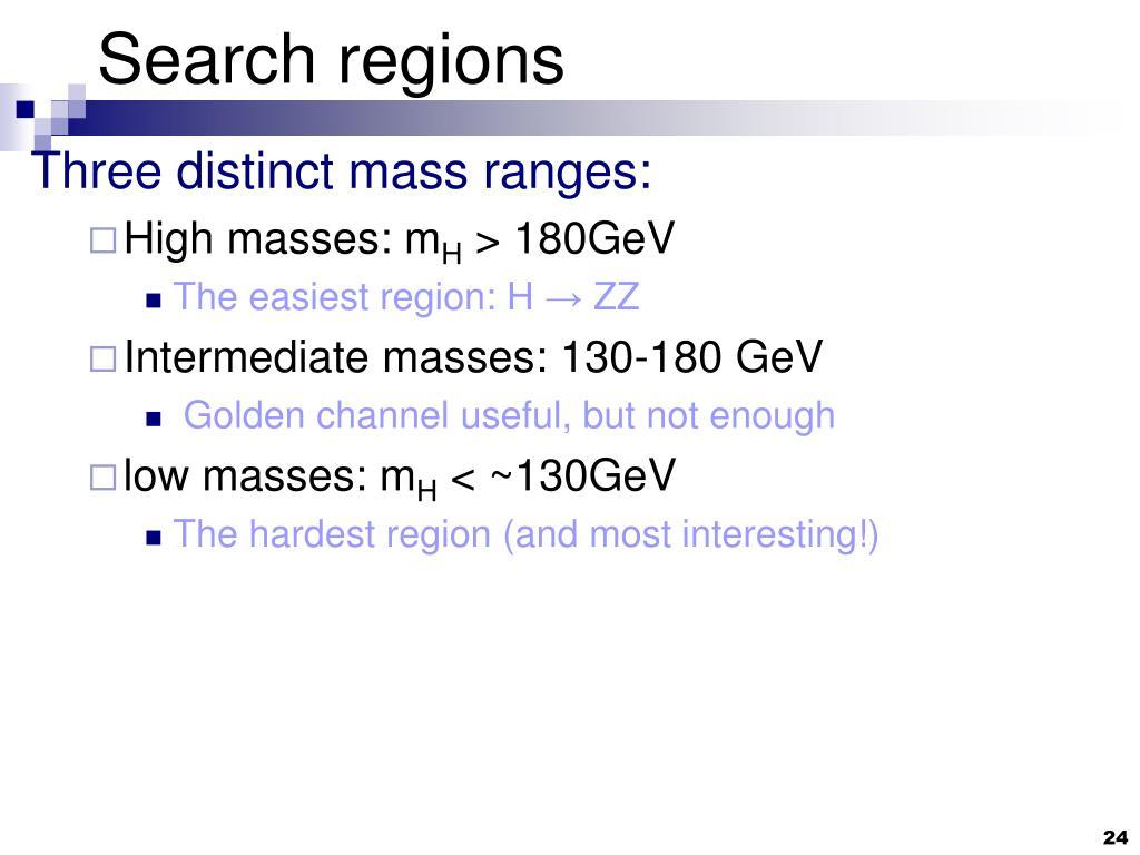 Search regions