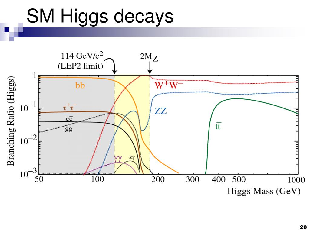 SM Higgs decays