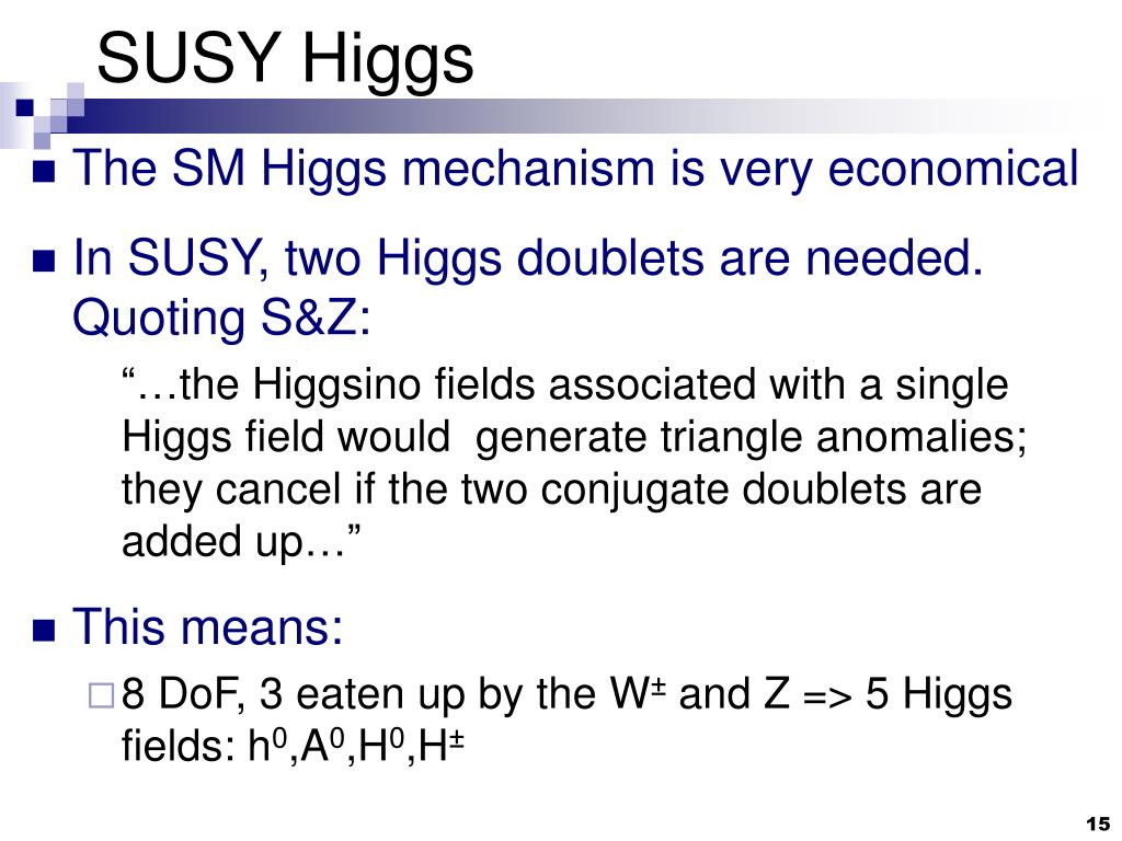SUSY Higgs