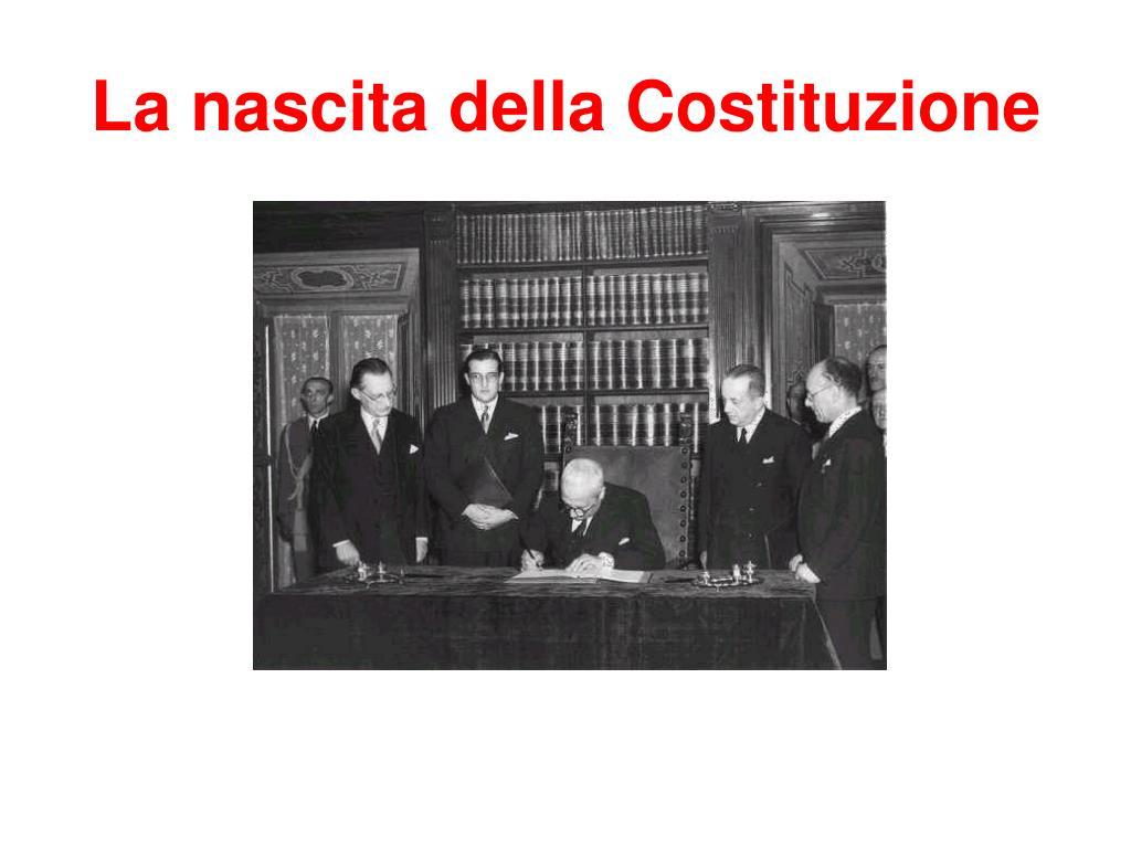 la nascita della costituzione l.