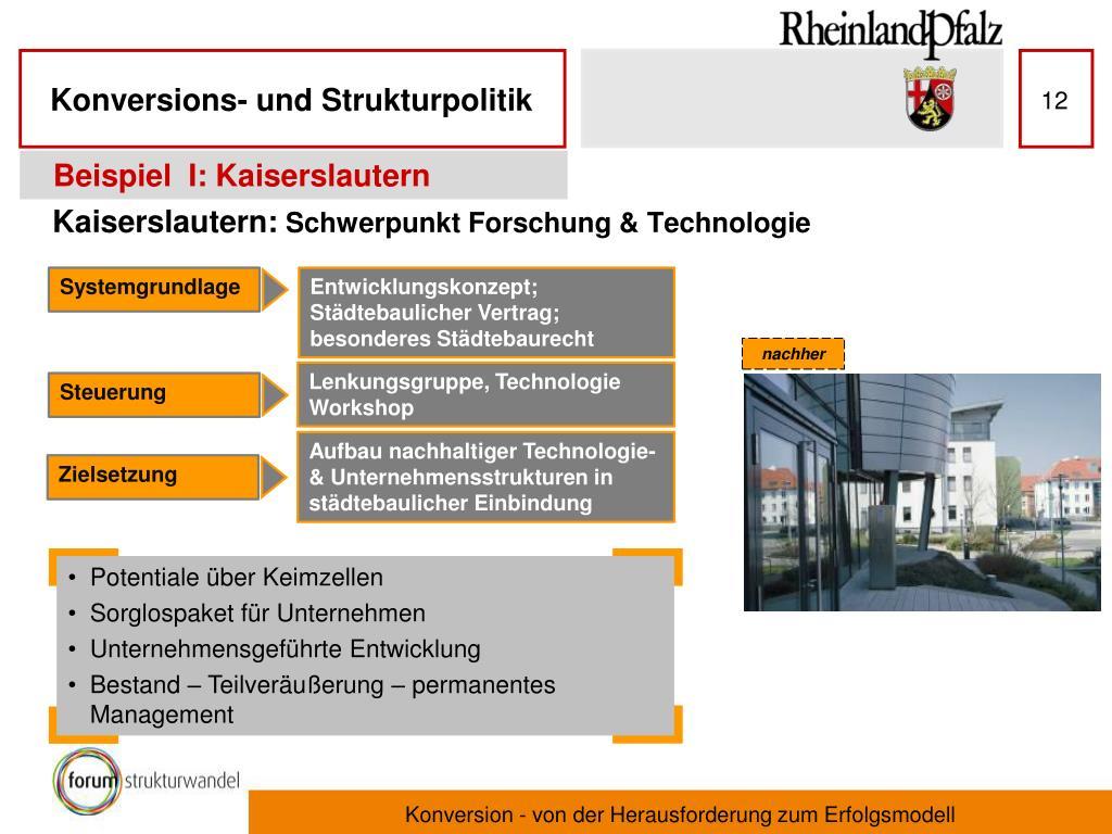 Beispiel  I: Kaiserslautern