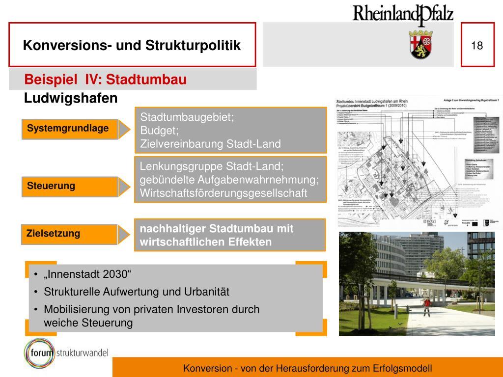 Beispiel  IV: Stadtumbau