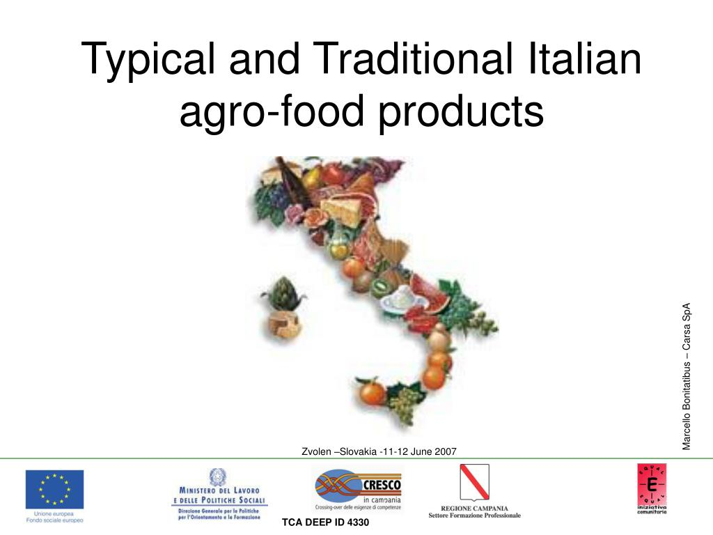 typical and traditional italian agro food products