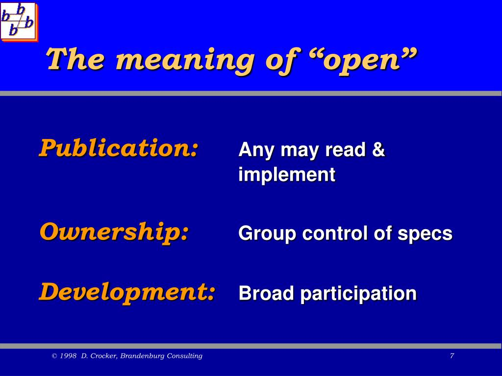 "The meaning of ""open"""