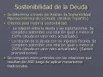 sostenibilidad de la deuda