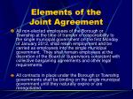 elements of the joint agreement29