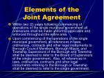 elements of the joint agreement33
