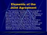 elements of the joint agreement36