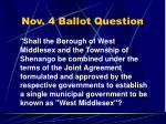 nov 4 ballot question
