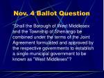 nov 4 ballot question25