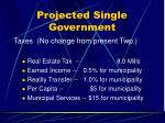 projected single government