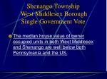 shenango township west middlesex borough single government vote9