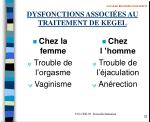 dysfonctions associ es au traitement de kegel