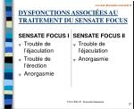 dysfonctions associ es au traitement du sensate focus