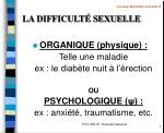 la difficult sexuelle