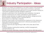 industry participation ideas