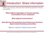 introduction share information