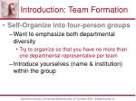 introduction team formation