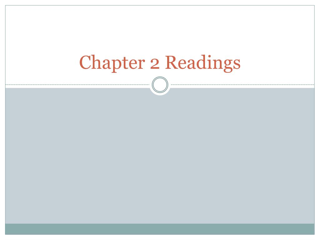 chapter 2 readings l.