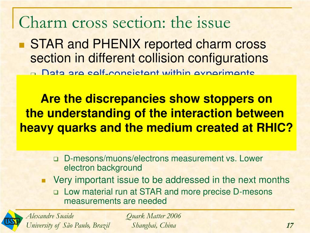 Charm cross section: the issue