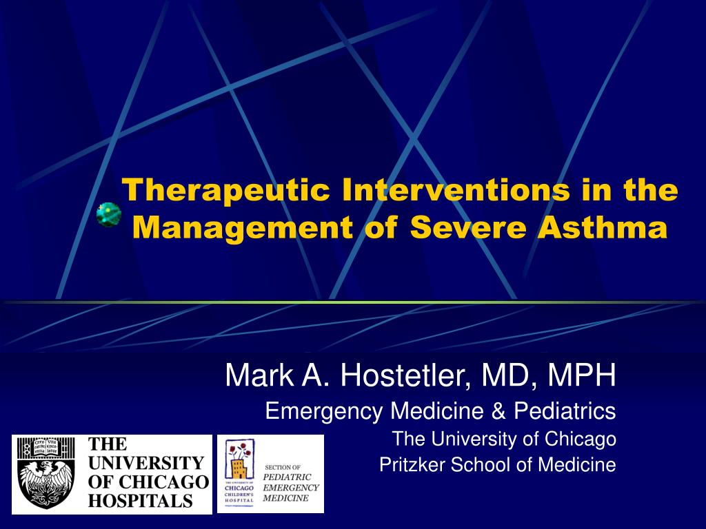therapeutic interventions in the management of severe asthma l.