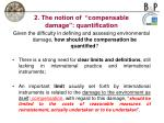 2 the notion of compensable damage quantification