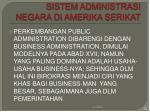 sistem administrasi negara di amerika serikat