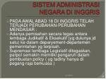 sistem administrasi negara di inggris