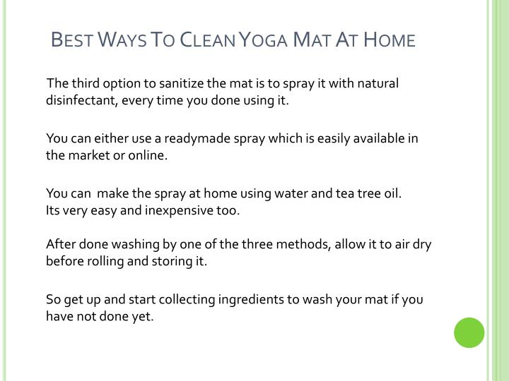 Best ways to clean yoga mat at home3