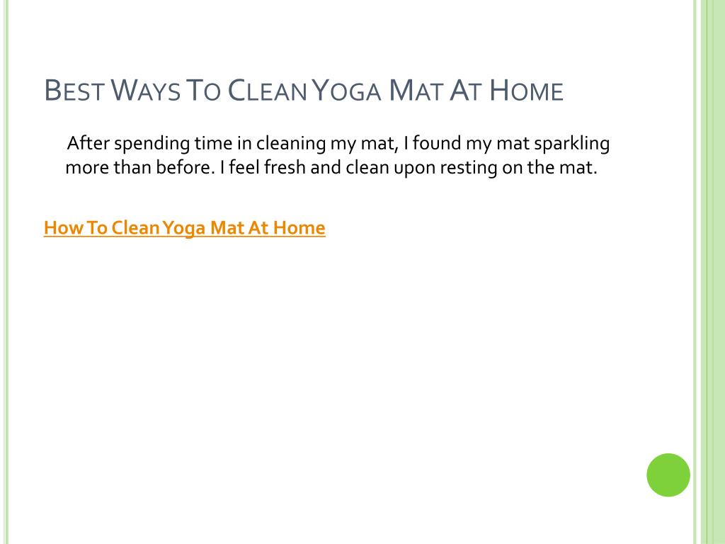 Best Ways To Clean Yoga Mat At Home