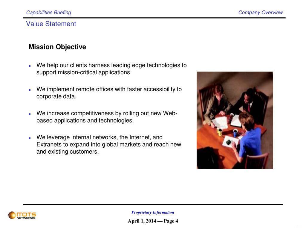 Capabilities Briefing