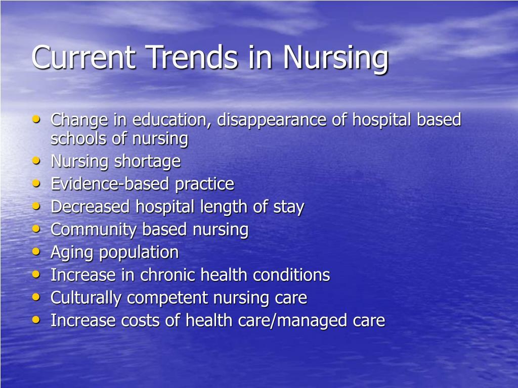 Current Trends in Nursing