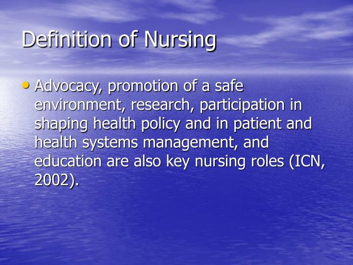 Definition of nursing3