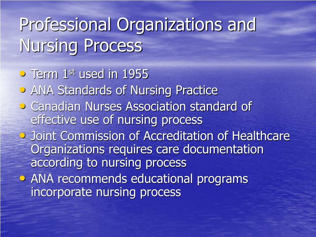 Professional Organizations and Nursing Process