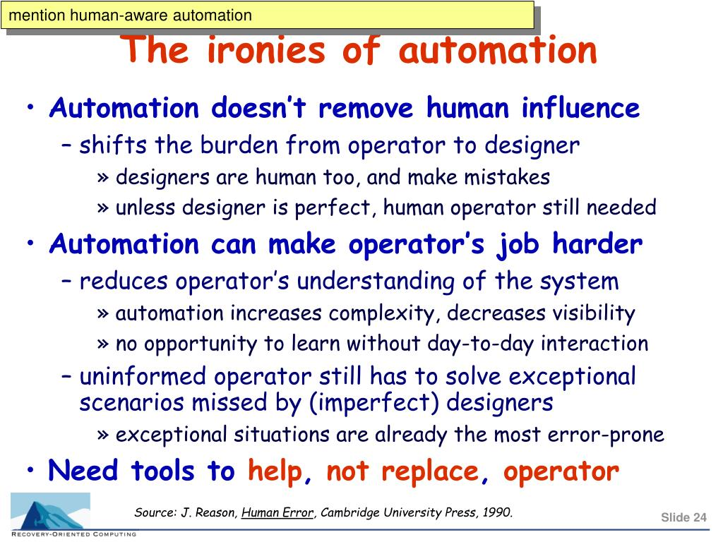 mention human-aware automation