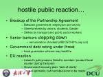 hostile public reaction