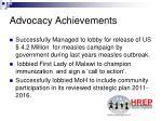 advocacy achievements