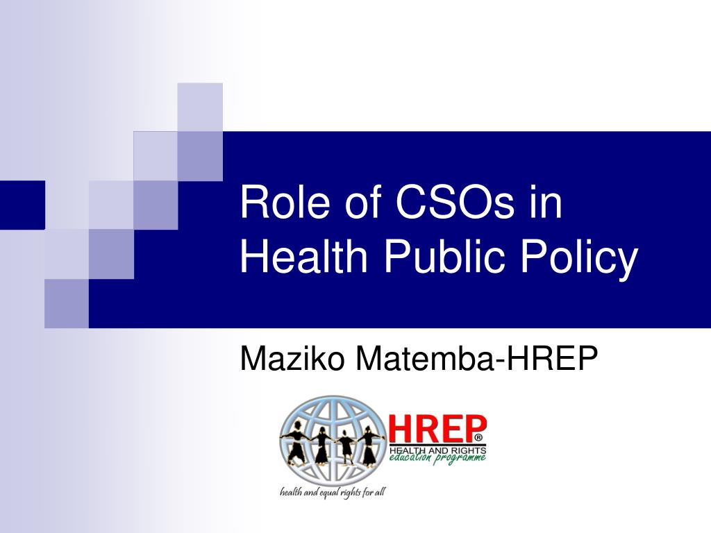 role of csos in health public policy l.