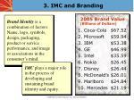 3 imc and branding