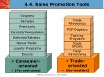 4 4 sales promotion tools