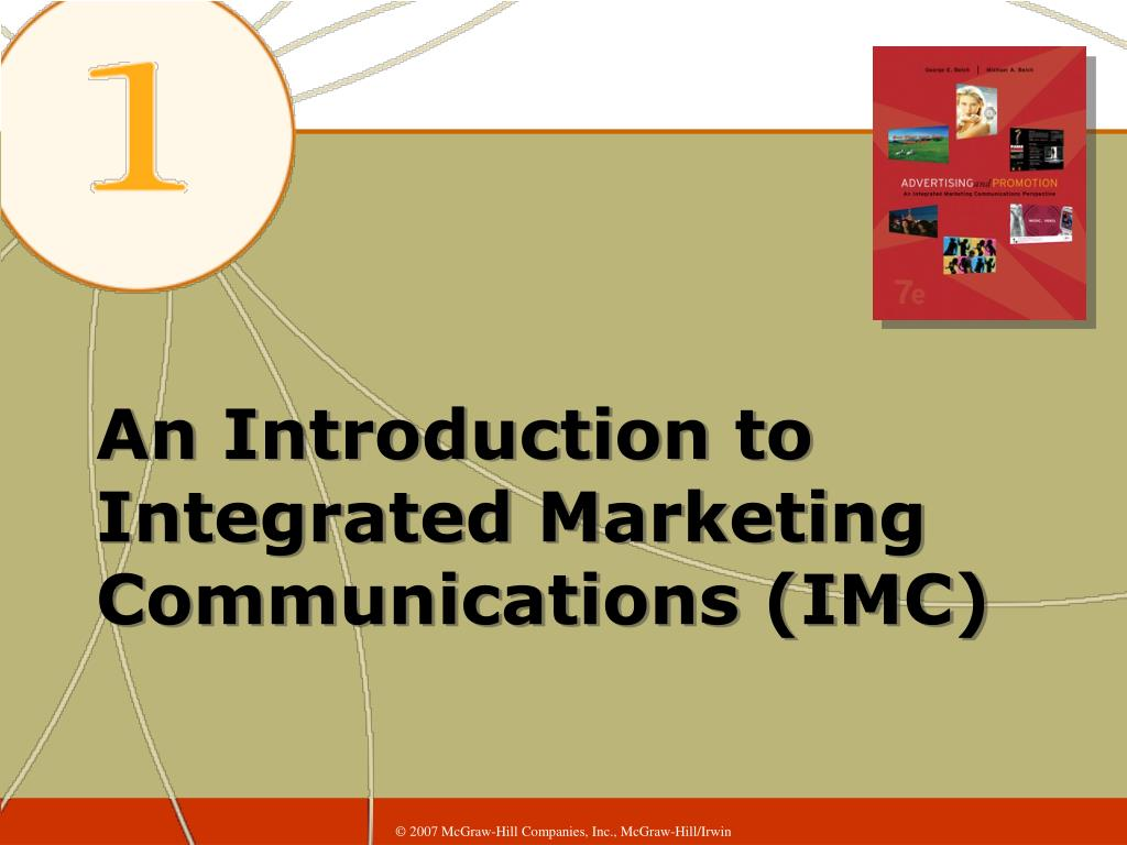 an introduction to integrated marketing communications imc l.