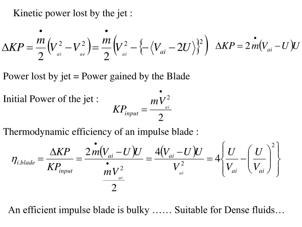 Kinetic power lost by the jet :